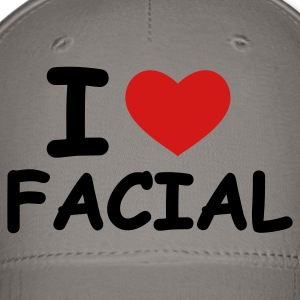 Pink I Love Facial Women's T-Shirts - Baseball Cap