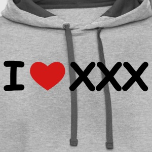 Light oxford I Love XXX T-Shirts - Contrast Hoodie