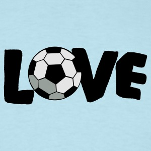 Sky blue LOVE SOCCER Baby Body - Men's T-Shirt