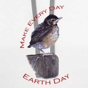 Baby Robin, Make Every Day, Earth Day - Contrast Hoodie