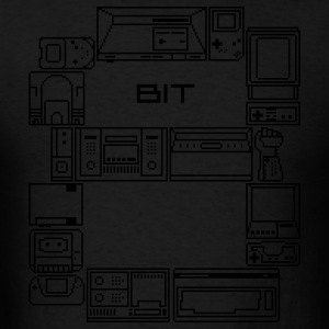 Black 8-Bit-Consoles Hoodies - Men's T-Shirt