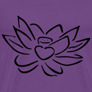 Light pink Lotus heart Hoodies - Men's Premium T-Shirt