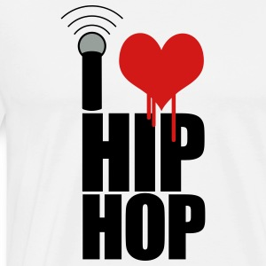 White I Love Hip Hop Hoodies - Men's Premium T-Shirt