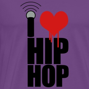 Light pink I Love Hip Hop Hoodies - Men's Premium T-Shirt