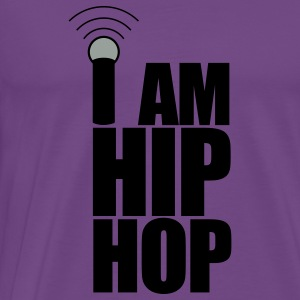 Light pink I Am Hip Hop Hoodies - Men's Premium T-Shirt