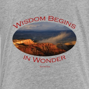 Bryce Canyon, Wisdom by Socrates - Toddler Premium T-Shirt