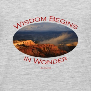 Bryce Canyon, Wisdom by Socrates - Men's Premium Long Sleeve T-Shirt