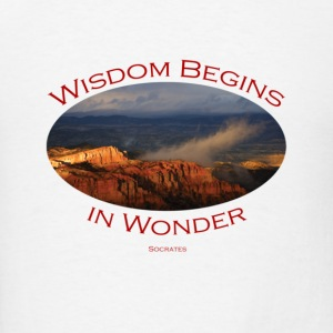 Bryce Canyon, Wisdom by Socrates - Men's T-Shirt