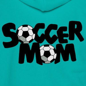 Teal SOCCER MOM football mother Women's T-Shirts - Unisex Fleece Zip Hoodie by American Apparel