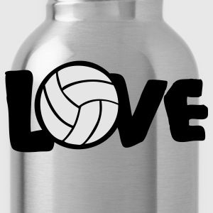 Teal I LOVE VOLLEYBALL ball Women's T-Shirts - Water Bottle