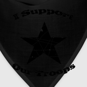Red support our troops T-Shirts - Bandana