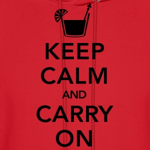 Red Keep Calm And Carry On T-Shirts - Men's Hoodie