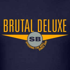 Navy Brutal Deluxe Hoodies - Men's T-Shirt