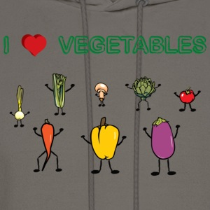 Natural I Love Vegetables T-Shirts - Men's Hoodie