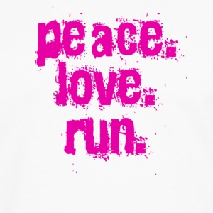 White peace love run Women's T-Shirts - Men's Premium Long Sleeve T-Shirt