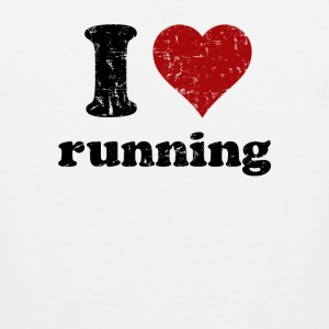 White i heart running Women's T-Shirts - Men's Premium Tank