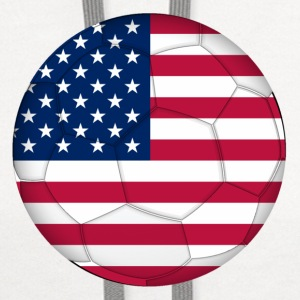 Children's T-Shirt: USA Soccer Flag - Contrast Hoodie