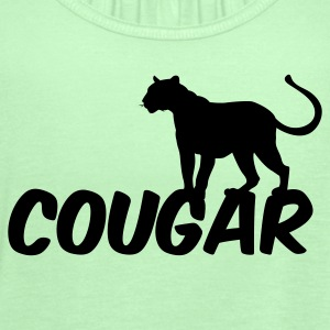 Forest green COUGAR T-Shirts - Women's Flowy Tank Top by Bella