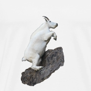 Mountain Goat, Rock Climbing - Men's Premium T-Shirt