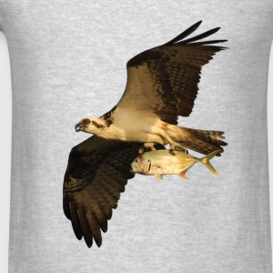 Osprey, Fish in Talons - Men's T-Shirt
