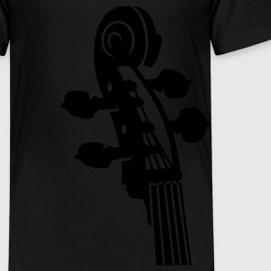Black Cello neck (B, 1c) Kids' Shirts - Toddler Premium T-Shirt