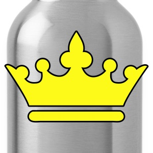 Forest green KINGS CROWN prince princess or Queen T-Shirts - Water Bottle
