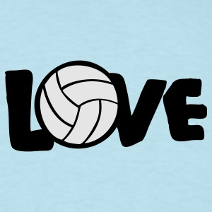 Sky blue I LOVE VOLLEYBALL ball Baby Body - Men's T-Shirt