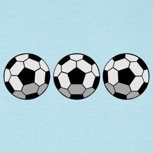 Sky blue THREE SOCCER BALLS  Baby Body - Men's T-Shirt