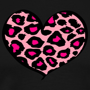 Black cheetah heart Tanks - Men's Premium T-Shirt