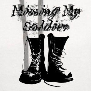 White Missing My Soldier Women's T-Shirts - Contrast Hoodie