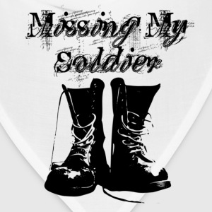 White Missing My Soldier Women's T-Shirts - Bandana