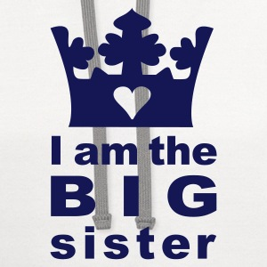 White I am the big Sister Kids' Shirts - Contrast Hoodie