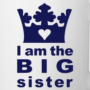 White I am the big Sister Kids' Shirts - Coffee/Tea Mug