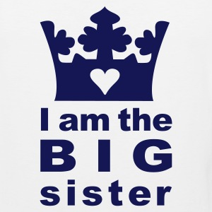 White I am the big Sister Kids' Shirts - Men's Premium Tank
