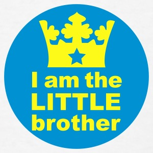 White I am the little Brother Baby Body - Men's T-Shirt