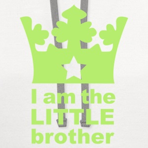 White I am the little Brother Kids' Shirts - Contrast Hoodie