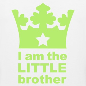 White I am the little Brother Kids' Shirts - Men's Premium Tank