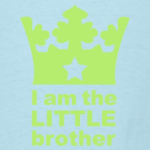 Sky blue I am the little Brother Baby Body - Men's T-Shirt