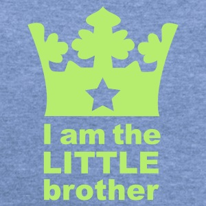 Sky blue I am the little Brother Baby Body - Women's Wideneck Sweatshirt