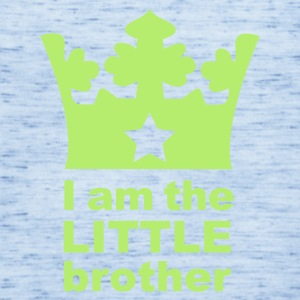 Sky blue I am the little Brother Baby Body - Women's Flowy Tank Top by Bella