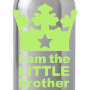 Sky blue I am the little Brother Baby Body - Water Bottle