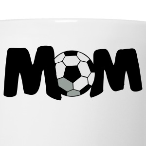 White FOOTBALL SOCCER MOM T-Shirts - Coffee/Tea Mug