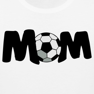 White FOOTBALL SOCCER MOM T-Shirts - Men's Premium Tank