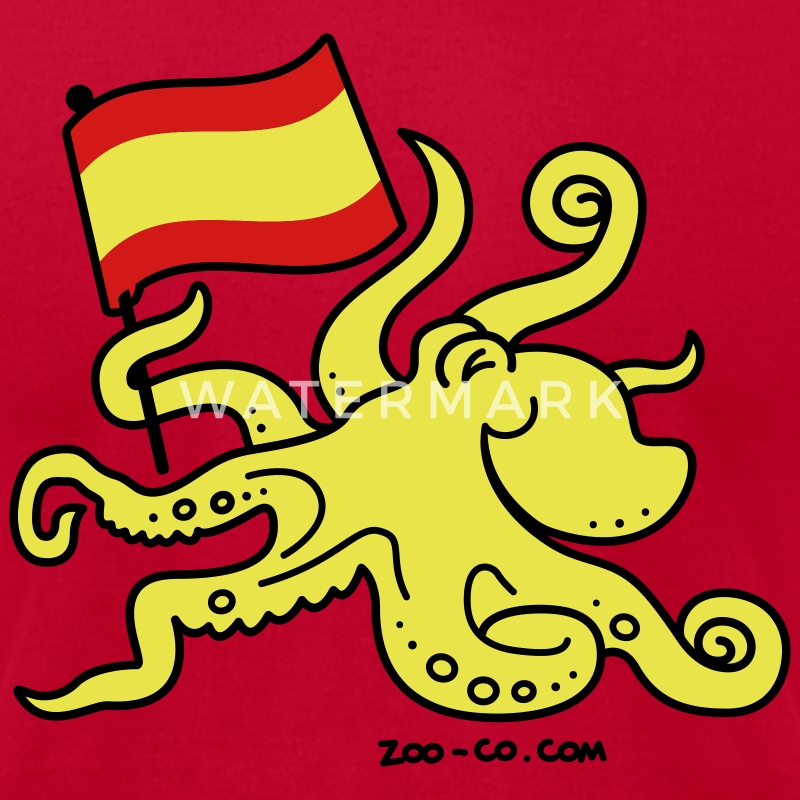 Red Paul the Octopus is Spanish! T-Shirts - Men's T-Shirt by American Apparel