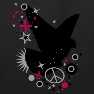 Hot pink Peace Dove - symbol of peace Eco-Friendly Tees - Eco-Friendly Cotton Tote