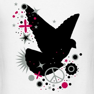 White Peace Dove - symbol of peace Baby Body - Men's T-Shirt