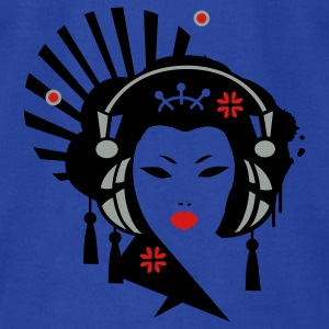 Moss Geisha with Headphones Tanks - Men's T-Shirt by American Apparel