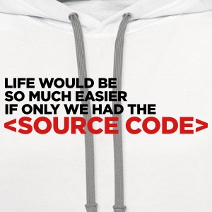 White Life's Source Code 2 (2c) Kids' Shirts - Contrast Hoodie