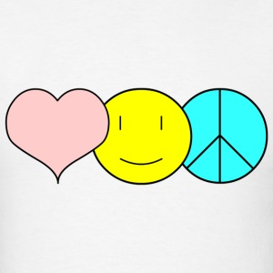 Love, Peace, Happiness - Men's T-Shirt