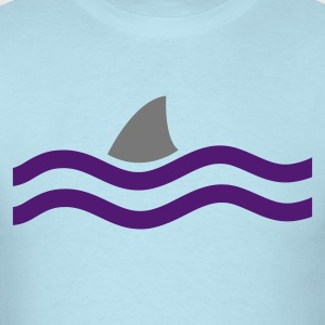 Powder blue SHARK IN THE WATER Baby Body - Men's T-Shirt